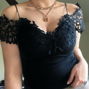 Windsor Black Lace Top✨🌙